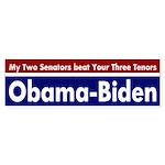 Two Senators beat Three Tenors bumper sticker