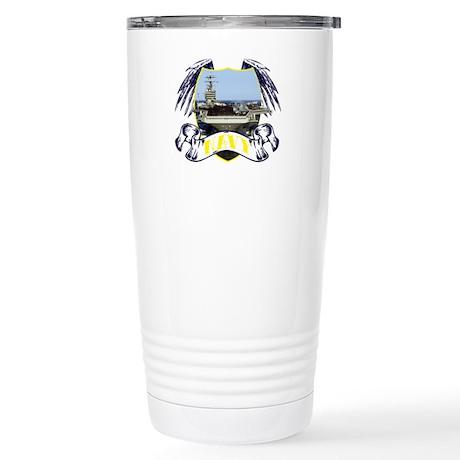 Navy.Carrier.Tattoo Stainless Steel Travel Mug