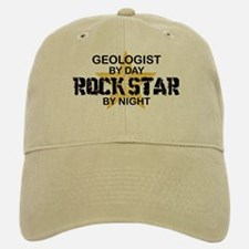 Geologist Rock Star by Night Baseball Baseball Cap