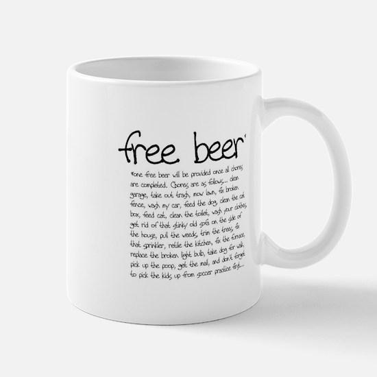 free beer Mug