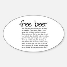 free beer Oval Decal