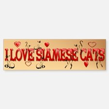 Walking Siamese Bumper Bumper Bumper Sticker