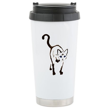 Walking Siamese Stainless Steel Travel Mug