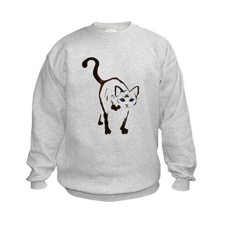 Walking Siamese Kids Sweatshirt