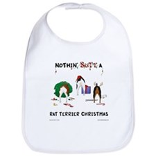 Nothin Butt Rat Terrier Xmas Bib