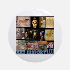 Art History 101 Ornament (Round)