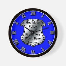 God Made Police Wall Clock