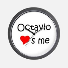 Funny Octavio Wall Clock