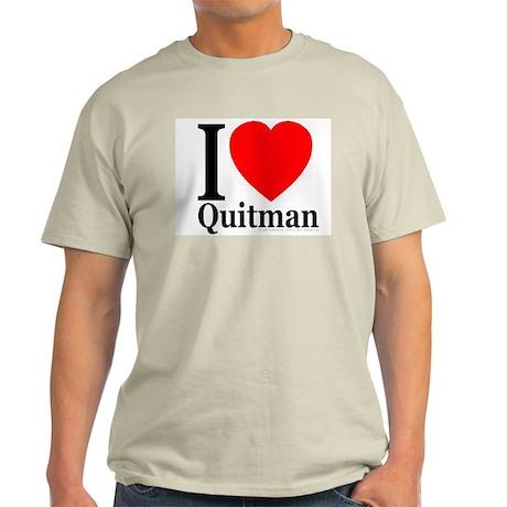I Love Quitman Ash Grey T-Shirt