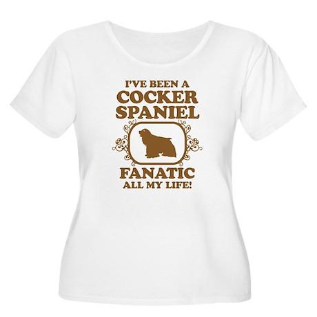 American Cocker Spaniel Women's Plus Size Scoop Ne