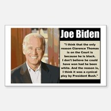 Biden on Clarence Thomas Rectangle Decal