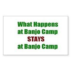 Banjo Camp Rectangle Decal