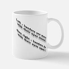 Left-handers see more Mug