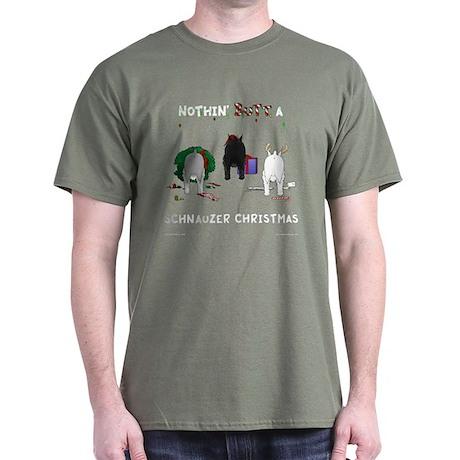 Nothin Butt Schnauzer Xmas Dark T-Shirt