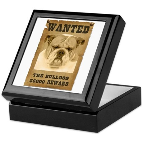 """Wanted"" Bulldog Keepsake Box"