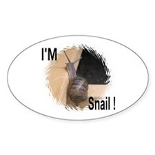 I'M Snail Oval Decal