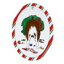 Springer Christmas Oval Ornament