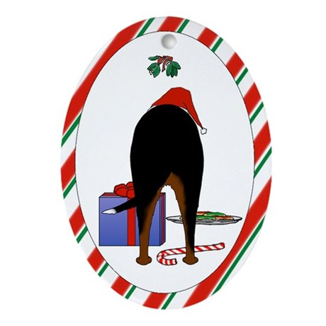 Swissie Christmas Oval Ornament