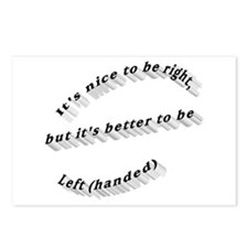 Better to be Left-handed Postcards (Package of 8)