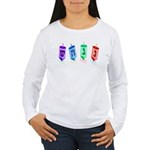 Four Dreidels Women's Long Sleeve T-Shirt