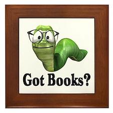 Got Books? Framed Tile
