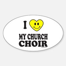 CHURCH CHOIR Oval Decal