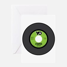 YO-Groove On 45RPM Greeting Card