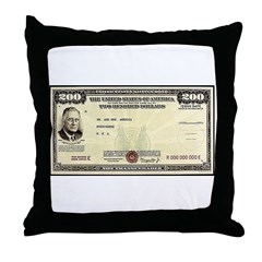 Defense Bonds Throw Pillow