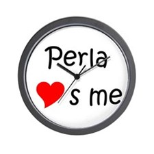 Funny Perla Wall Clock
