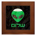Shalom Alien Framed Tile