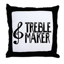 Treble Maker Throw Pillow