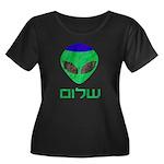 Shalom Alien Women's Plus Size Scoop Neck Dark T-S