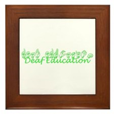 Deaf Education Framed Tile