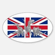British Dinosaurs Oval Decal