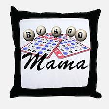 Bingo Mama Throw Pillow