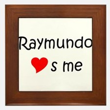Funny Raymundo Framed Tile