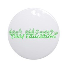 Deaf Education Ornament (Round)