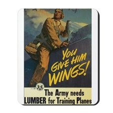 Give Him Wings! Mousepad