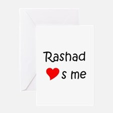 Cool Rashad Greeting Card