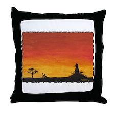 Sunset Safari Throw Pillow
