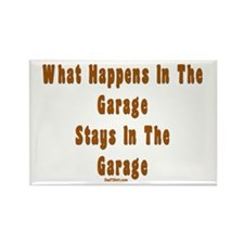 What Happens In Garage Dad Rectangle Magnet