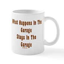 What Happens In Garage Dad Mug