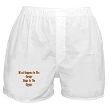 What Happens In Garage Dad Boxer Shorts