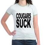 Cougars Suck Jr. Ringer T-Shirt