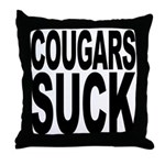 Cougars Suck Throw Pillow