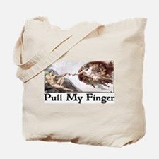 Pull My Finger Tote Bag