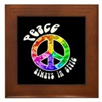 Peace Always in Style Framed Tile