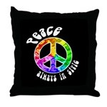 Peace Always in Style Throw Pillow