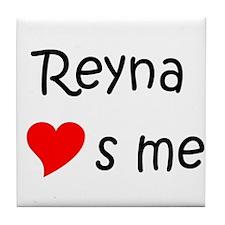 Funny Reyna Tile Coaster