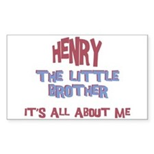 Henry - All About Brother Rectangle Decal